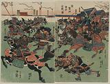 Battle between the Minamoto and the Taira at Taiken Gate