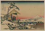 Teahouse at Koishikawa the morning after a snowfall
