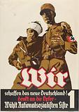 Wir schaffen das neue Deutschland! Denkt an die Opfer-wählt Nationalsozialisten Liste 1