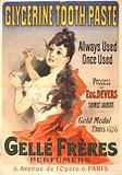 Glycerine tooth paste - Gellé Frères perfumers 6, Avenue de l'Opéra, 6, Paris