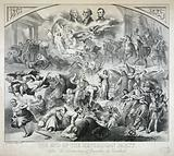"""The end of the republican party After """"The Destruction of Jerusalem"""" by Kaulbach"""