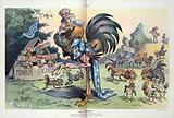 His foresight. Illustration shows Uncle Sam as a large rooster standing among several small free-ranging chicks …