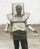 Mouse-trap armor for caddies – here is the newest safety device seen on California links