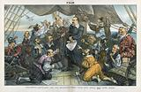 """Columbus Cleveland and his mutinous crew - """"This ship shall not turn back!"""""""