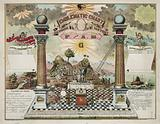 Emblematic chart and Masonic history of Free and Accepted Masons