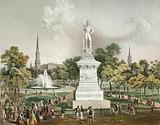 Cleveland Park. Statue of Oliver Hazard Perry in foreground
