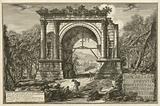 Veduta dell'Arco fabbricato in onore d'Augusto … Print shows a view of the arch built in honor of the emperor Augustus