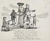 I am a Patriot d- me Sir and I will be a Patriot … Cartoon shows Charles James Fox, an English patriot, standing among …