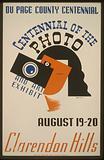 Du Page County Centennial - Centennial of the photo, and art exhibit - Clarendon Hills