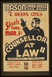 """""""Counsellor at law"""" Gripping drama by Elmer Rice"""