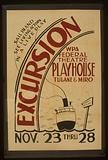 """""""Excursion"""" WPA Federal Theatre Playhouse, Tulane & Miro Sail in and see living actors in a live play"""