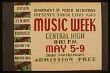 Department of Public Recreation presents Sioux Citys sic 1940 music week Bands, choirs, choruses, quartets, orchestras