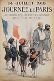 Journée de Paris. 14 Juillet 1916. Au profit des oeuvres de guerre de l'Hôtel de Ville