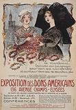 Exposition des dons américains… Two French women, one from Alsace and one from Lorraine, making floral wreaths