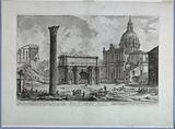 """Arch of Septimius Severus from """"Vedute di Roma"""""""