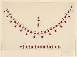 Design for a Parure with Rubies and Pearls