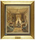 Interior of a Dressing Room with Tented Ceiling