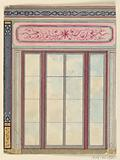 Window Decoration, with Panel of Arabesques and Star, Probably for the Dining Room