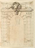 Recto: A portal. Verso: Portrait of a young warrior.