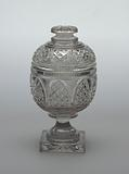 Covered Bowl with Diamond Pattern