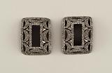 Pair of cut-steel shoe buckles