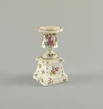 Urn on Pedestal with Flowers