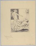 """""""The Blessing of Sleep,"""" Study for a Poster for Paine's Celery Compound"""