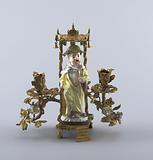 Candelabra with Chinoiserie Figure