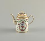 Coffeepot with Hanging Flower Baskets