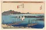 Ejiri, View Over Mio-no-Matsu-bara, in The Fifty-Three Stations of the Tokaido Road (Tokaido Gojusan Tsugi-no Uchi)