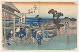 Totsuka Teahouse, in The Fifty-Three Stations of the Tokaido Road (Tokaido Gojusan Tsugi-no Uchi)