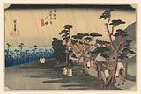 Tora's Rain (Oiso, Tora-ga-ame), in The Fifty-Three Stations of the Tokaido Road (Tokaido Gojusan Tsugi-no Uchi)