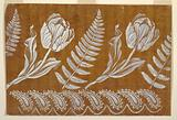 """Design for an Embroidered or Woven Horizontal Border of the """"Fabrique de St Ruf,"""" Unfinished"""