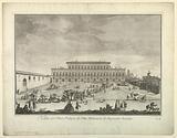 """View of the Pitti Palace in Florence, from """"Scelta di XXIV Vedute delle principali contrade, piazze, chiese, e palazzi della Città di Firenze"""""""