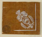 """Design for a Woven or Embroidered Corner Motif of the """"Fabrique de St Ruf"""""""