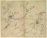 """Design for the Embroidery of a Lady's Dress, Pattern 591, of the """"Fabrique de St Ruf"""""""