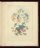 Ornamental Design with Small Blue Flowers, from Nouvelle suite de cahiers de flerurs naturelle a l'usage des dessinateurs et des peintres, No 1