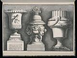 Three Vases, Suitte de vases projetes pour Nimphenbourg (Set of Vases Designed for Nymphenburg)