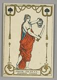 """Judith (Devotion, Courage), Playing Card from Set of """"Cartes héroïques"""" or """"Des grands hommes"""""""