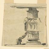 Design for a table with decorated base