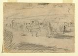 Train of Army Wagons