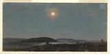 Sun or Moon Rising over Porcupine Islands, Bar Harbor