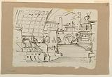 Stage Design, Group of Antique Buildings