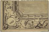 Design for Cornice of Oblong Ceiling