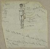 Sketch of a Male Nude with Notations
