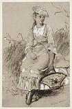 Seated Girl with a Basket