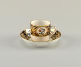 Cup and Saucer with Flower Medallions