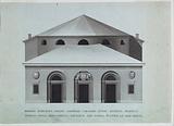 Elevation of the Teatro Vaccai, Tolentino, Italy