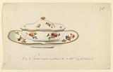 Design for a Painted Porcelain Sugar Bowl and Stand