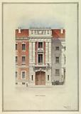 Design for a fire house: front elevation